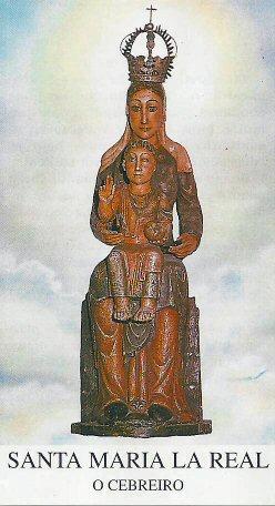 Дерев'яна статуя богородиці Марії з Ісусом, 12 століття, село О'Себрейро (O'Cebreiro) в Іспанії