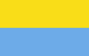 Статичний сонячно-блакитний прапор (50% + 50%)