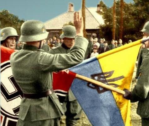 Присяга вояків Українського Визвольного Війська. Міус-фронт, 1943, Донбас.
