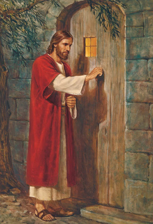 Ісус стукає у двері. Художник Дель Парсон (США).