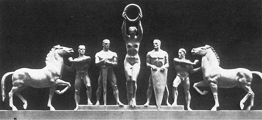 Нагородження переможців. Скульптор Йозеф Торак (нім. Josef Thorak, 1889–1952)