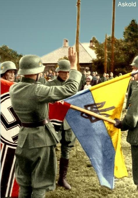 Присяга вояків куреня УВВ. Міус-фронт, 1943, Донбас