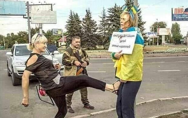 «Там живуть такі ж українці, як і ми. Ми маємо про це пам'ятати». © Володимир Зеленський