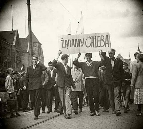 "\""Жадаємо хліба\"". Робітнича маніфестація в Познані, 1956 рік"