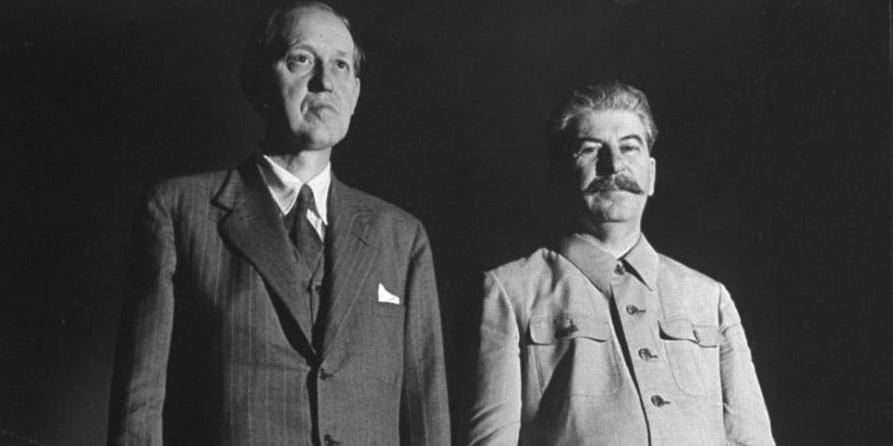 Гаррі Гопкінс і Йосип Сталін під час зустрічі в Кремлі. 30 липня 1941 р.