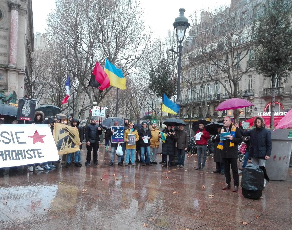 Голова СКУ Павло Ґрод, Акція на підтримку України напередодні Нормандського формату Париж 8 грудня 2019