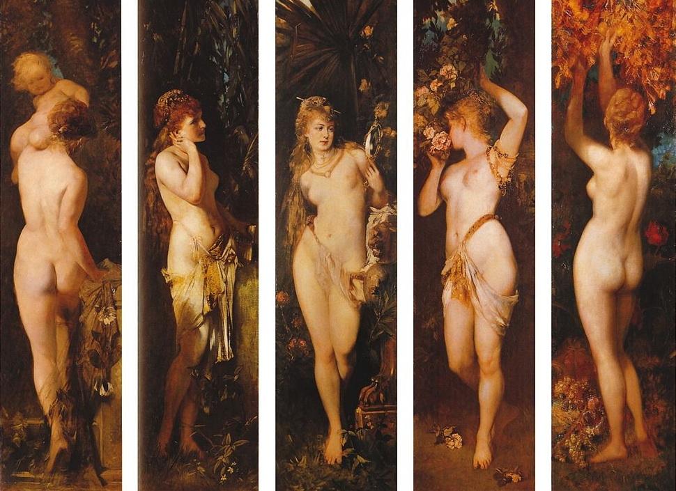 Алегоричнакартина«П'ять відчуттів»,Ганс Макарт,1884рік