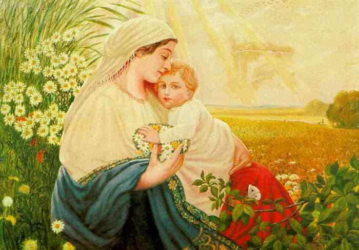 Богородиця з Ісусом. Картина, намальована Адольфом Гітлером.
