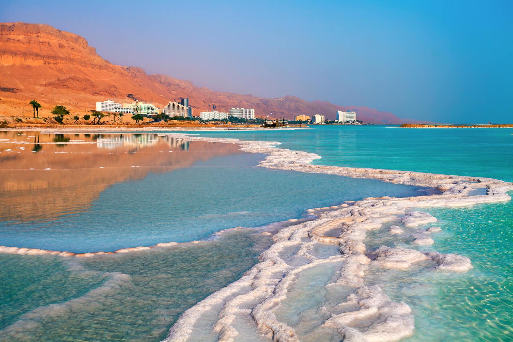 мертвое море пляж