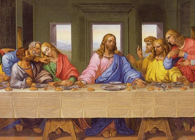 Леонардо да Вінчі. Таємна вечеря (фрагмент)