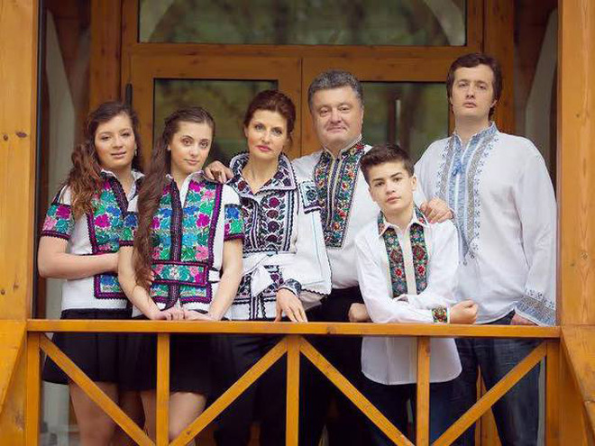 Петро Порошенко з сім'єю