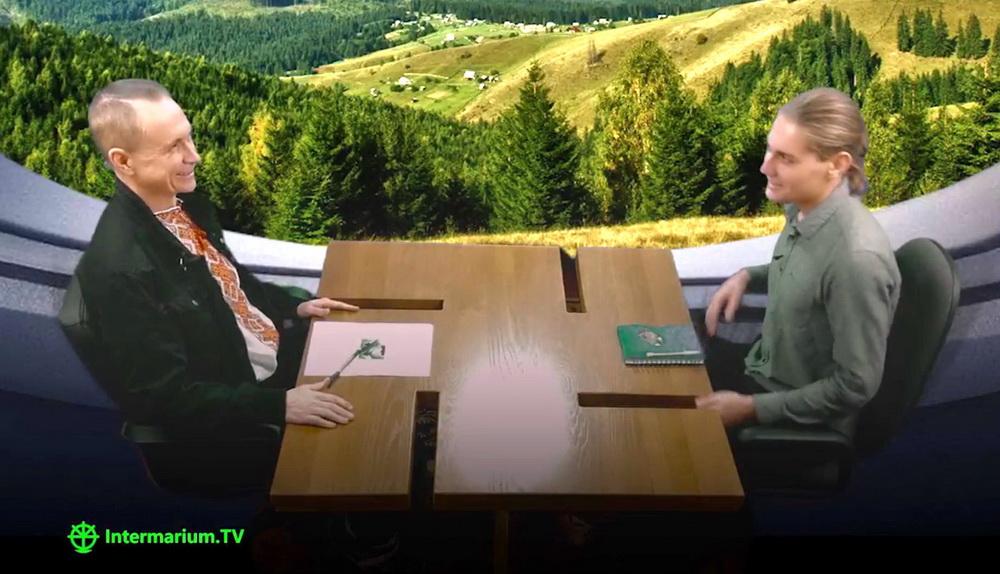 Стіл Гартленд у київській студії Intermarium.TV 22 жовтня 2017 р.
