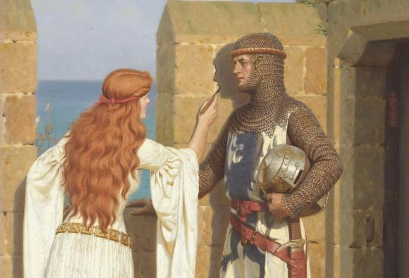 «Тінь» (фрагмент) – художник Едмунд Блер Лейтон (Edmund Blair Leighton, 1852–1922)