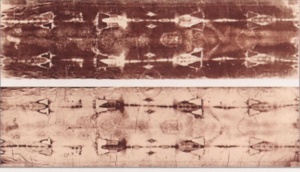Туринська плащаниця (позитив і негатив) - гіперфото Ісуса Хреста в момент воскресіння