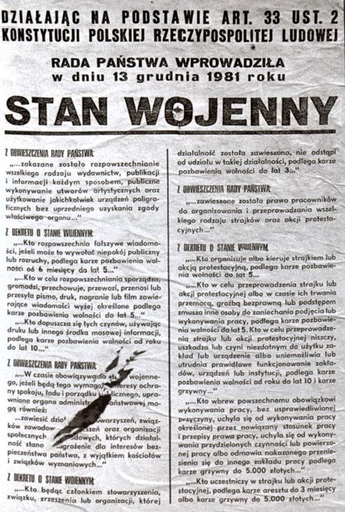 Указ про запровадження Воєнного стану 13 грудня 1981 року